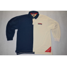 Tommy Hilfiger Polo T-Shirt Vintage 90s 90er Casual Block...