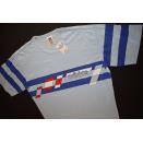 Adidas T-Shirt TShirt Trikot Jersey Vintage 80er 80s Blau...