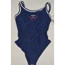 Adidas Bade Anzug Bathing Suit Vintage Deadstock Blau...