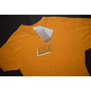 Nike T-Shirt Graphic Block Logo Vintage Deadstock Gelb...