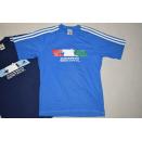 2x Adidas T-Shirt TShirt Sport Vintage Italia Italien Wm...