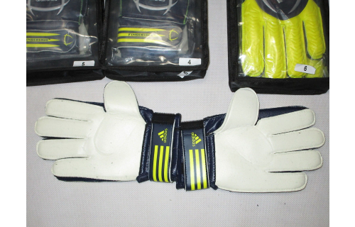 Adidas Fingersave Young Torwart Hand Schuhe Fussball Goal Keeper Gloves Gr 4 5 6