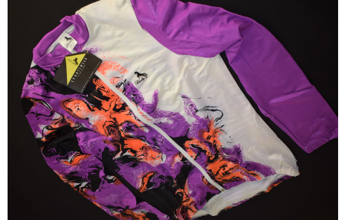 Blacky Thermo Jacke Jacket Rad Trikot Shirt Bike Jersey Maillot 90er 90s S M NEU