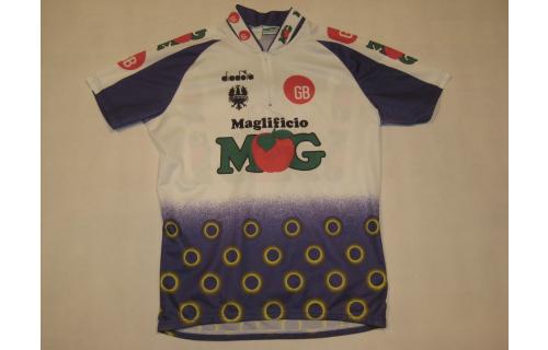 Diadora Fahrrad- Rad Trikot Shirt Jersey Maillot Camiseta Maglia VTG MOG ca. XL