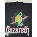 Nazareth Snakes and Ladders Tour 1989 T-Shirt Rock N Roll Hard Vintage 80s ca M-L
