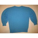 Adidas Pullover Sweatshirt Knit Sweater Strick Wolle Vintage Blau D 48 & 50 NEU
