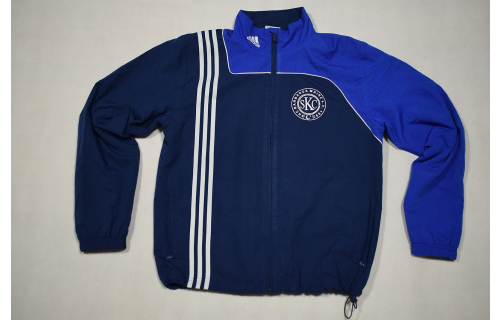 Adidas Trainings Jacke Sport Jacket  Track Top Soccer Mesh Casual Blau Weiß 6 M