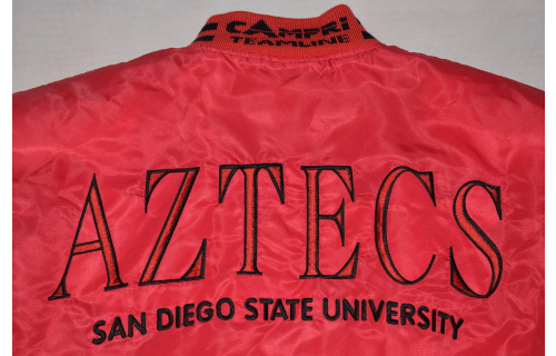 San Diego Aztecs Jacke Bomber Jacket College University Football Vintage 90s L