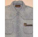 Wrangler Damen Jeans Hemd Shirt Longsleeve VTG Vintage Denim 90s Blau Blue Gr. M