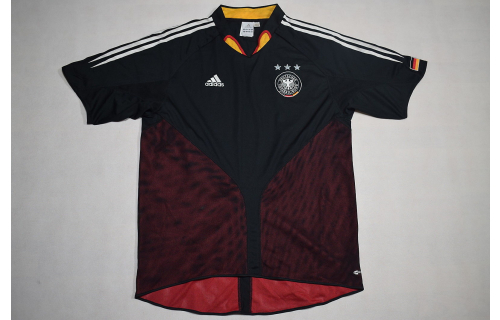 Adidas Germany Deutschland Trikot Jersey EM 04 Schwarz Maillot Shirt Maglia Camiseta XL